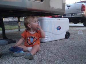 Eli eating rocks