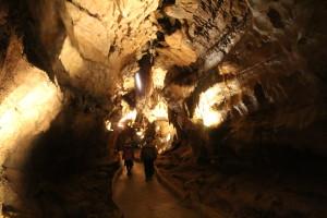 Cave tour in Diamond Cavern