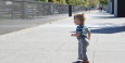 Eli loved walking on this beautiful day (Wall of History, Nashville TN)