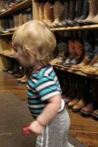 Eli boot shopping (Boot Country, Nashville TN)